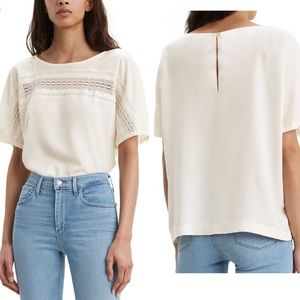Levi's Noe Lace Contrast Blouse New Size Small